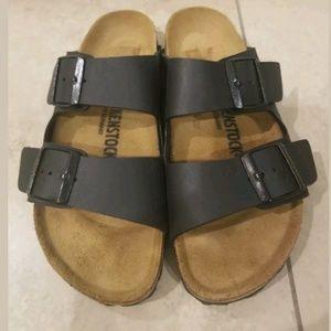 Birkenstock Shoes - Birkenstock Arizona Leather Birko-Flor Sandals